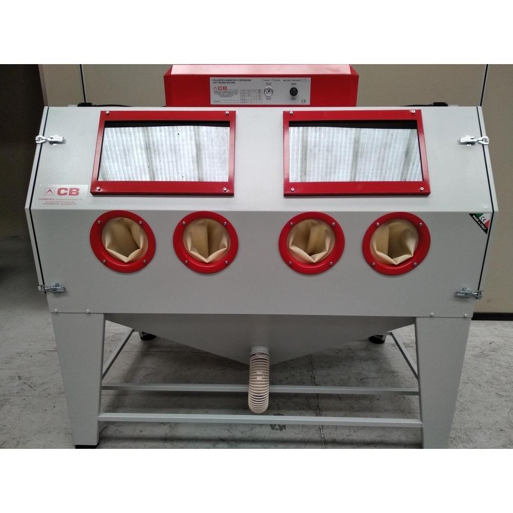 cabine de sablage pour travaux sablage et aérogommage CB XL double postation
