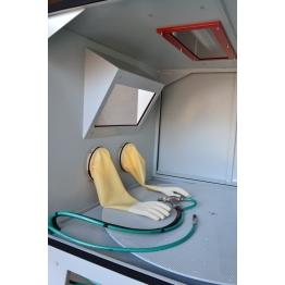 cabine de sablage pour travaux sablage et aérogommage ABM-MachinesCB Pal-4 XXL